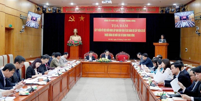 Lấy ý kiến lập Ban Dân vận ở đảng bộ cấp trên cơ sở thuộc Khối các cơ quan Trung ương