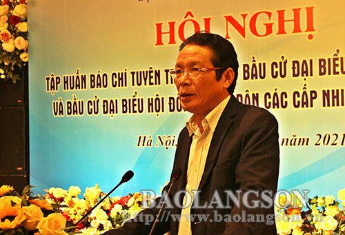 250 phóng viên, biên tập viên được tập huấn tuyên truyền về bầu cử