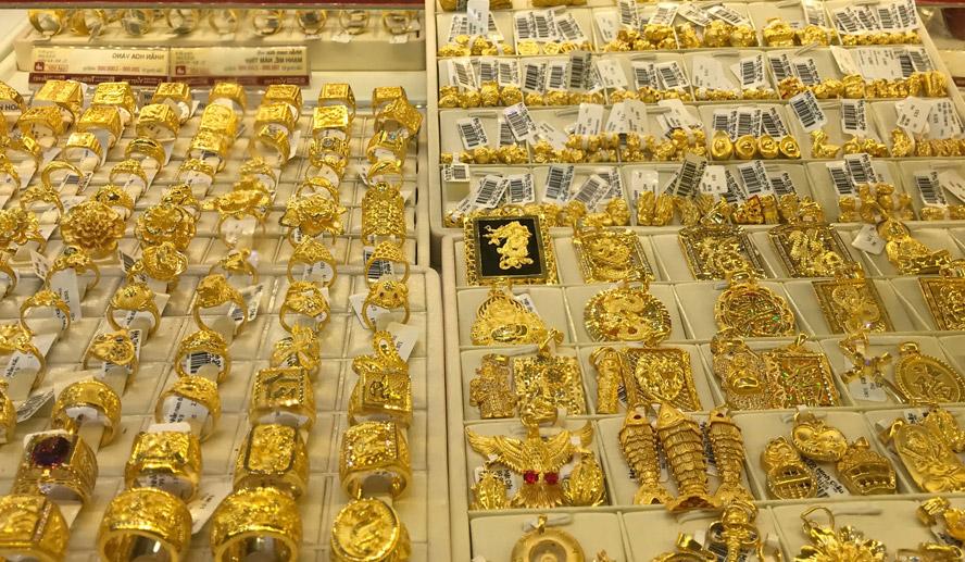 Giá vàng tăng tiếp, vượt mốc 55 triệu đồng/lượng