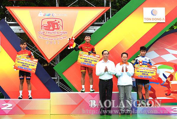 Lãnh đạo tỉnh Lạng Sơn dự và trao giải chặng 2 của Giải đua xe đạp Cúp Truyền hình thành phố Hồ Chí Minh lần thứ 33