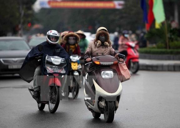 Không khí lạnh tăng cường các tỉnh Bắc Bộ