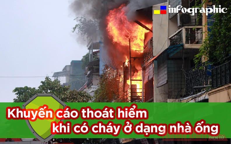 Khuyến cáo thoát hiểm khi có cháy ở dạng nhà ống