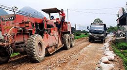 Sửa chữa, cải tạo đường tỉnh 243: Cần đẩy nhanh tiến độ