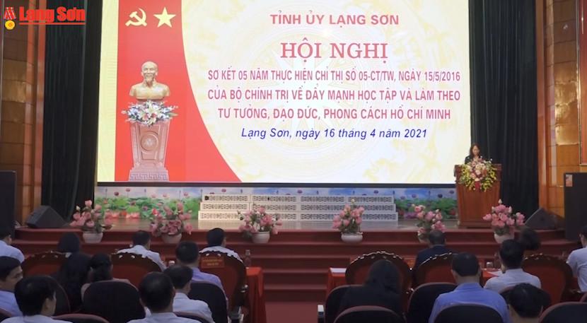 Tỉnh ủy Lạng Sơn sơ kết 5 năm thực hiện Chỉ thị 05