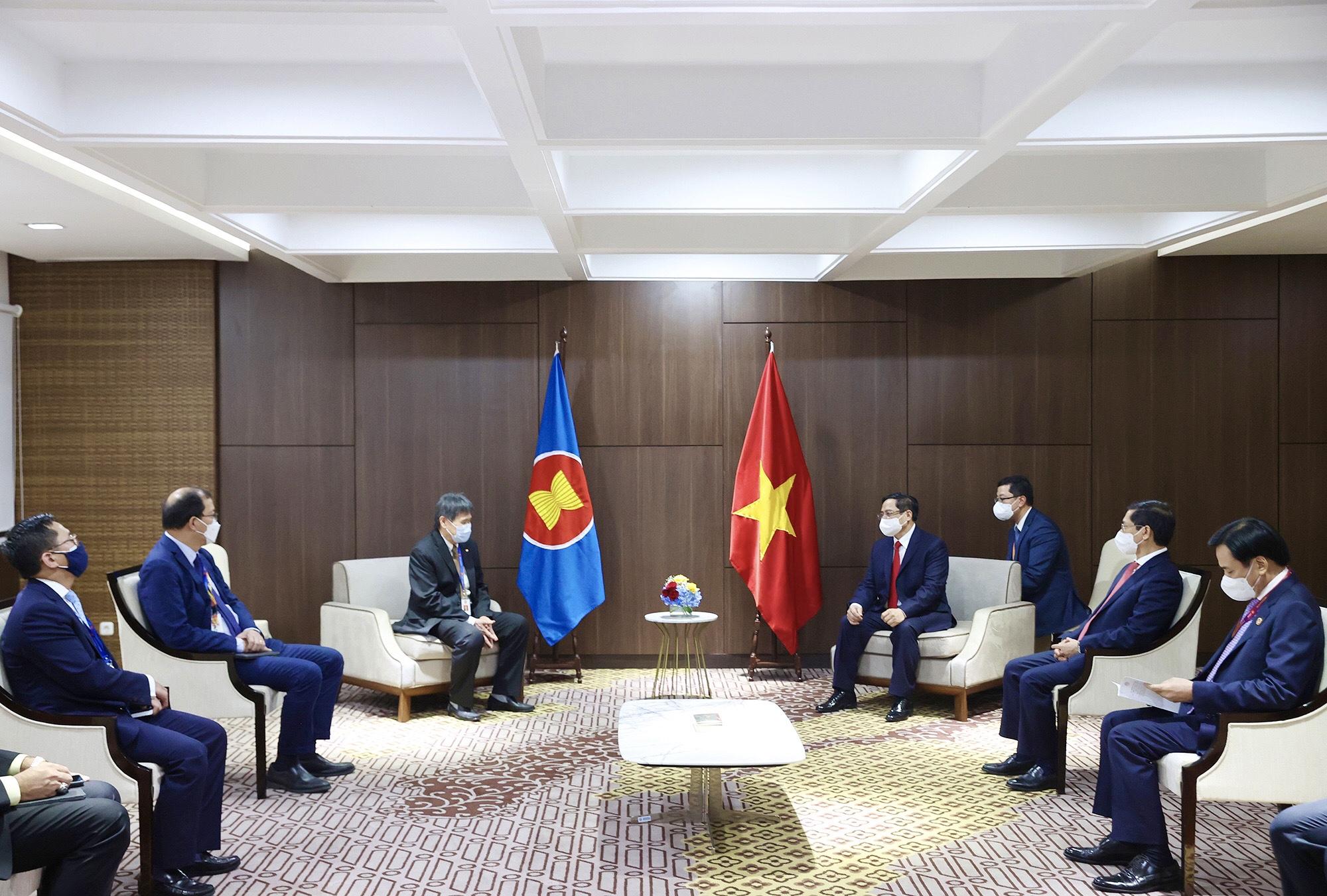 Thủ tướng Chính phủ Phạm Minh Chính tiếp Tổng Thư ký ASEAN
