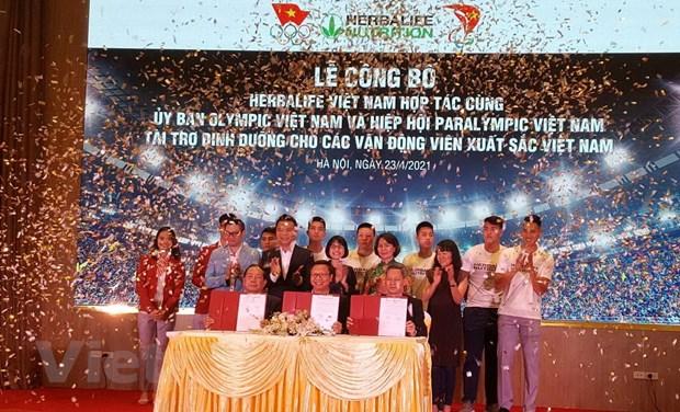 Công bố tài trợ dinh dưỡng cho các vận động viên Việt Nam xuất sắc