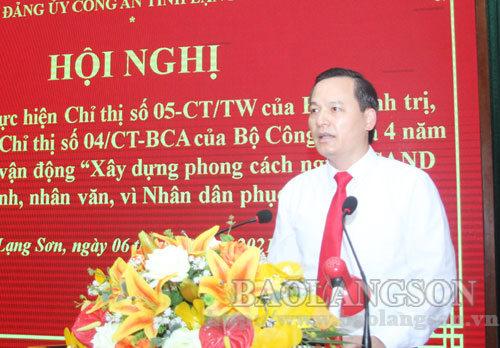Đảng ủy Công an tỉnh Lạng Sơn sơ kết 5 năm thực hiện Chỉ thị 05