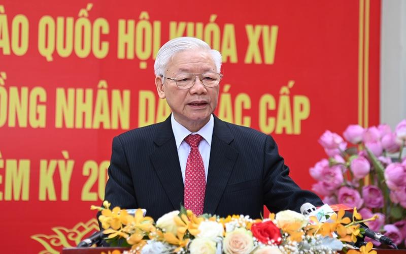 Tổng Bí thư trả lời phỏng vấn báo chí về bầu cử đại biểu Quốc hội khóa XV và đại biểu HĐND các cấp nhiệm kỳ 2021-2026