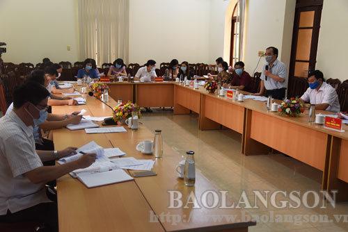 Họp Ban tổ chức cuộc thi trắc nghiệm Tìm hiểu 190 năm ngày thành lập tỉnh Lạng Sơn (4/11/1831 - 4/11/2021)