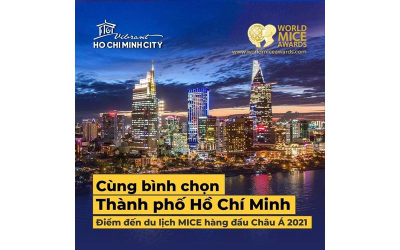 """TP Hồ Chí Minh được đề cử """"Điểm đến du lịch MICE hàng đầu châu Á năm 2021"""""""