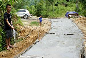 Thiện Long đẩy nhanh tiến độ thực hiện tiêu chí giao thông xây dựng nông thôn mới