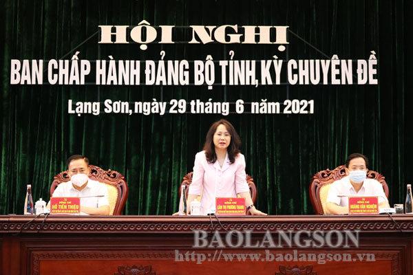 Hội nghị Ban Chấp hành Đảng bộ tỉnh kỳ chuyên đề: Giới thiệu nhân sự chức danh Chủ tịch HĐND tỉnh, nhiệm kỳ 2021-2026