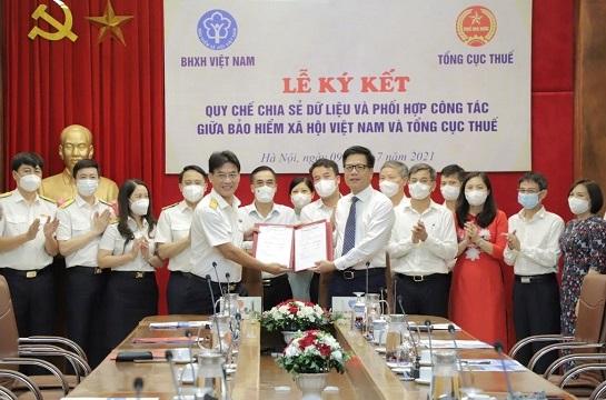 BHXH Việt Nam và Tổng cục Thuế phối hợp chia sẻ dữ liệu