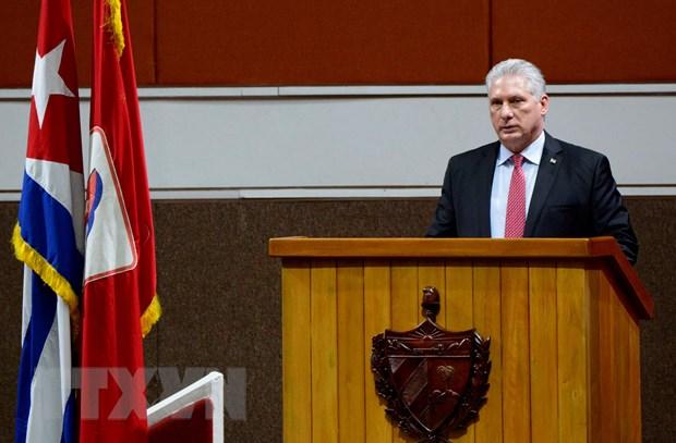 Chủ tịch Cuba khẳng định đất nước bình yên bất chấp thông tin sai lệch