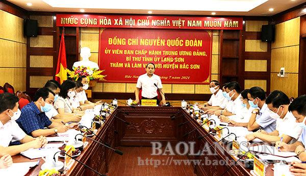 Bí thư Tỉnh ủy làm việc tại huyện Bắc Sơn