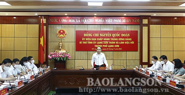 Phấn đấu xây dựng thành phố Lạng Sơn trở thành trung tâm thương mại, du lịch, dịch vụ vùng Đông Bắc