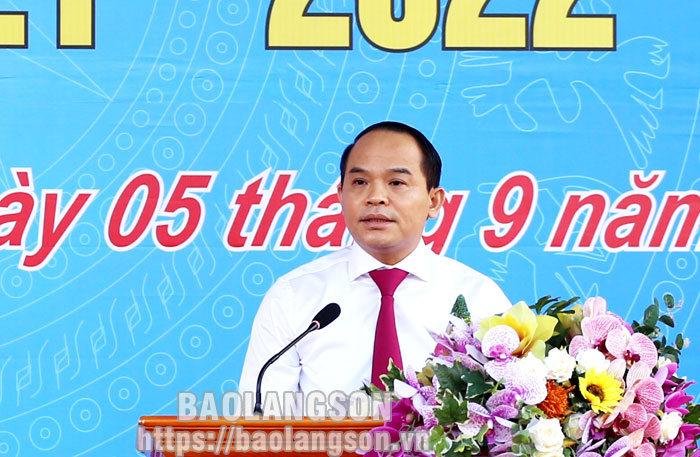 Đồng chí Bí Thư Tỉnh ủy dự lễ khai giảng năm học mới tại Trường THPT Chuyên Chu Văn An