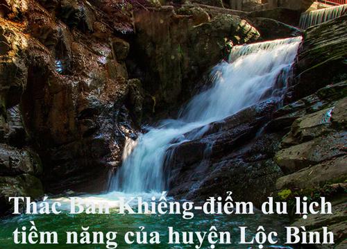 Thác Bản Khiếng-điểm du lịch tiềm năng của huyện Lộc Bình