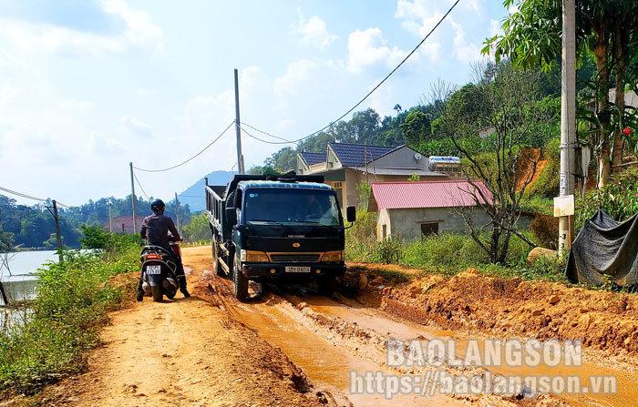 Mất an toàn do mặt đường sụt lún tại tuyến đường tỉnh 235C