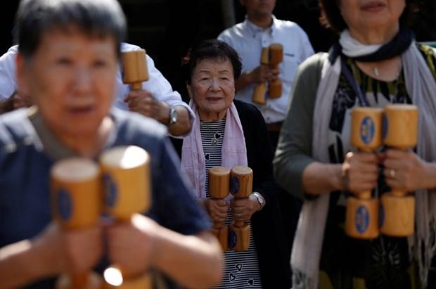 Số người trên 65 tuổi tại Nhật Bản đạt mức cao kỷ lục