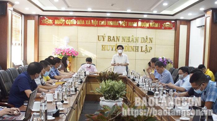 Khảo sát hiện trạng hạ tầng viễn thông và kiểm tra công tác phát triển kinh tế số tại huyện Đình Lập
