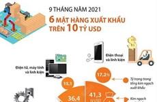 Chín tháng qua: Sáu mặt hàng xuất khẩu trên 10 tỷ USD