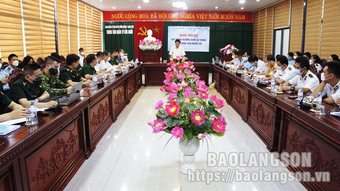 100 đại biểu được tập huấn sử dụng Nền tảng cửa khẩu số tại cửa khẩu quốc tế Hữu Nghị và cửa khẩu Tân Thanh