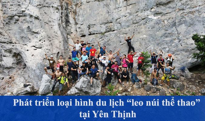 """Phát triển loại hình du lịch """"leo núi thể thao"""" tại Yên Thịnh"""