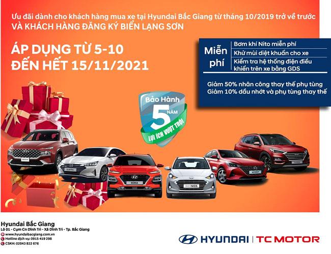 Chương trình ưu đãi dịch vụ tháng 10 tại Hyundai Bắc Giang