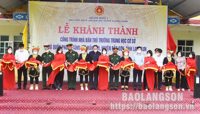 Khánh thành nhà bán trú Trường THCS xã Trấn Yên