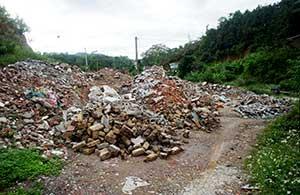 Thành phố Lạng Sơn: Khó khăn trong xử lý rác thải xây dựng