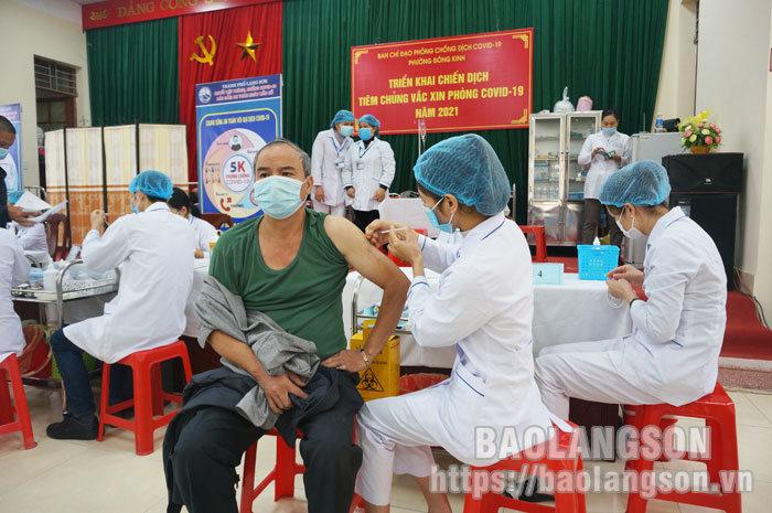 Thành phố Lạng Sơn triển khai tiêm vắc-xin phòng COVID-19 mũi 2