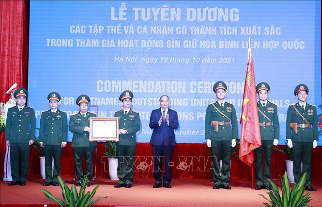 Chủ tịch nước biểu dương lực lượng gìn giữ hòa bình Liên hợp quốc