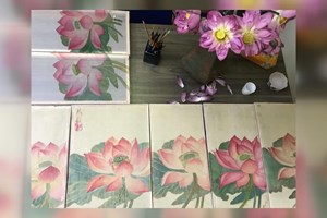 Young artists revive silk paintings
