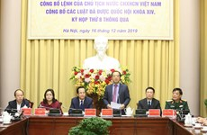 Presidential Office announces newly adopted laws