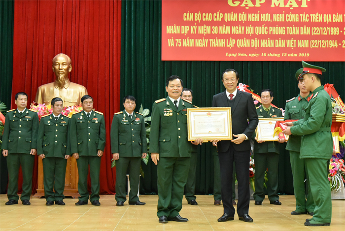 Get-together for Lang Son's retired senior military officers