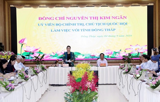 NA Chairwoman lauds Dong Thap's agriculture, rural development