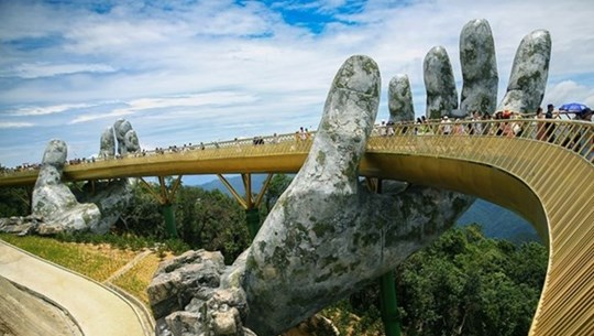Vietnam's Golden Bridge among world's most stunning bridges