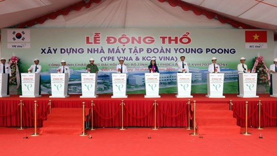Work starts on RoK-funded electronic component factory in Vinh Phuc