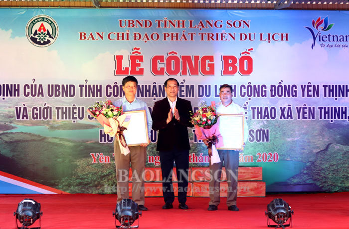 Announcing the community tourist site of Yen Thinh, Huu Lien and introducing mountain climbing tourism product
