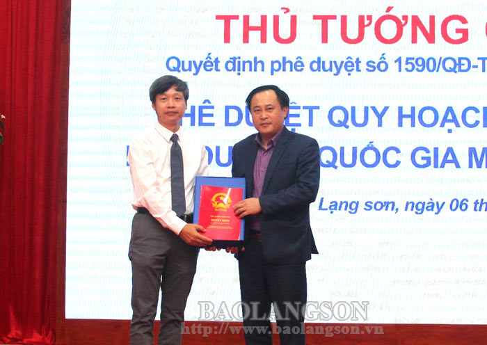 Announce the general planning for the construction of Mau Son national tourist area until 2040