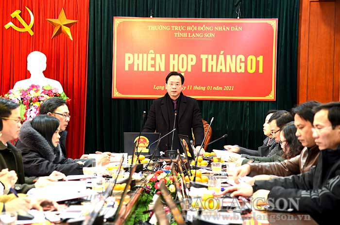 The Standing Committee of the Provincial People's Council convened the meeting in January 2021