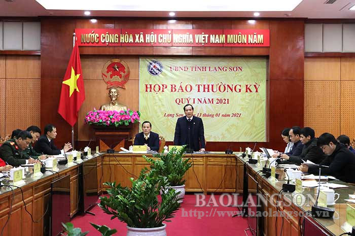 Provincial People's Committee held regular press conference for the first quarter of 2021