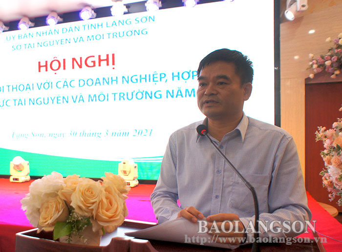 Dialogue on natural resources and environment with enterprises and cooperatives in the area