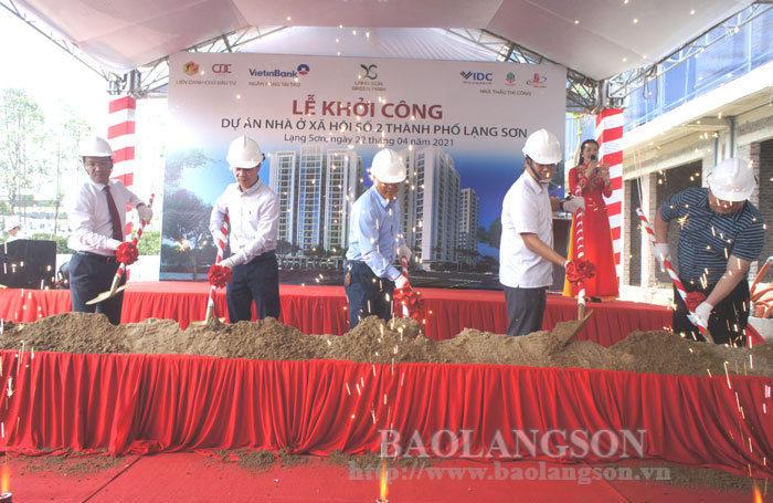 The groundbreaking of the social housing project No.2 worth more than 700 billion VND in Lang Son city