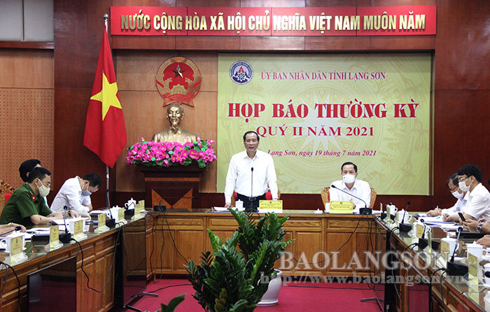 Provincial People's Committee holds regular press conference in the second quarter of 2021