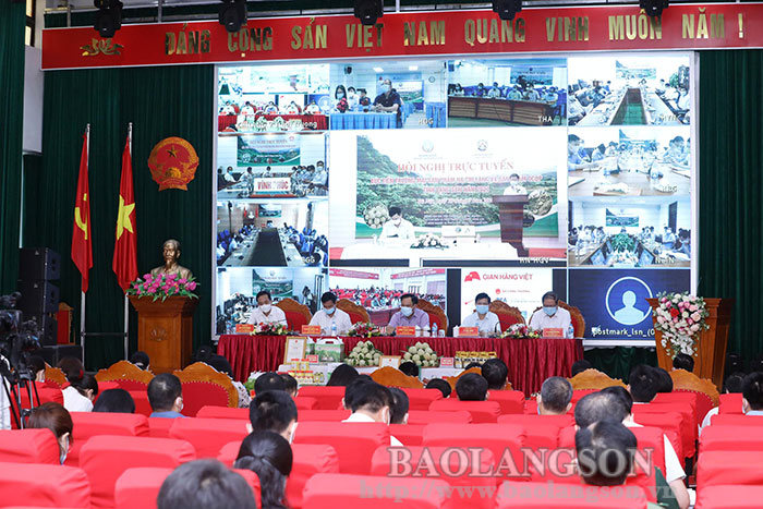 Conference on trade promotion of agricultural products in Lang Son province in 2021