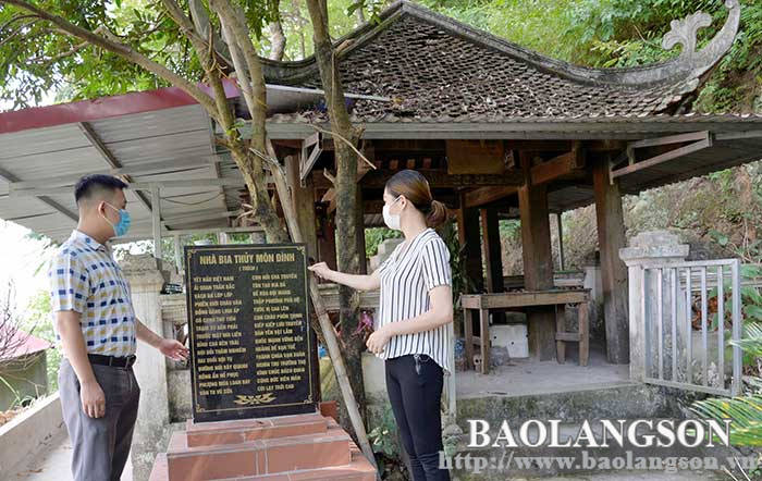 Actively promote the value of Thuy Mon Dinh relic site