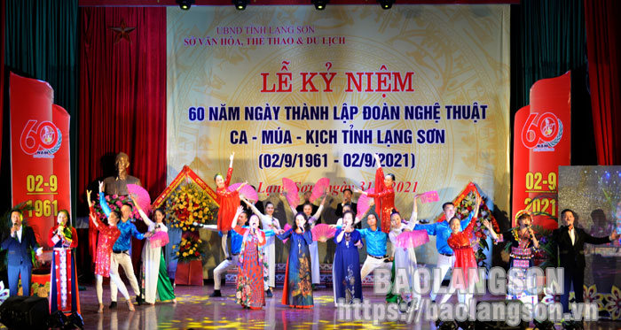 Celebrating the 60th anniversary of the Provincial Art Troupe of Singing - Dance - Drama