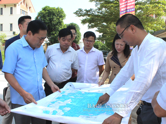 Lang Son People's Committee leading official inspects progress of Phu Loc I, II and III urban area projects
